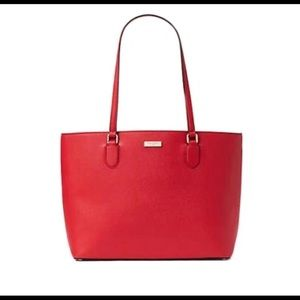 Kate Spade LAUREL WAY JAELYN TOTE Hot Chili